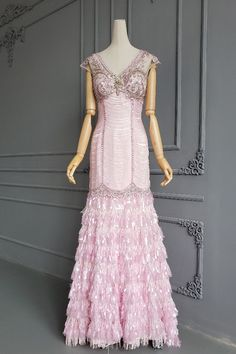 Gorgeous Long Mermaid V Neck Cap Sleeves Crystal Beaded Pink Lace Fringe Prom Party Dress Blush Pink Prom Dresses, Prom Party Dresses, Orange Blush, Purple Grey, Pink Lace, Crystal Beads, Cap Sleeves, Hot Pink, Mermaid