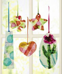 8 Creative and colorful window crafts. #kidscrafts