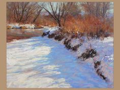 """""""A Winter Landscape"""" by pastel artist Lorenzo Chavez used Great American Pastels"""