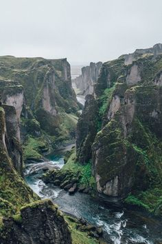 Fjaðrárgljúfur, Iceland - Hang this beautiful picture on a wall! Organic Green will always be in style~`