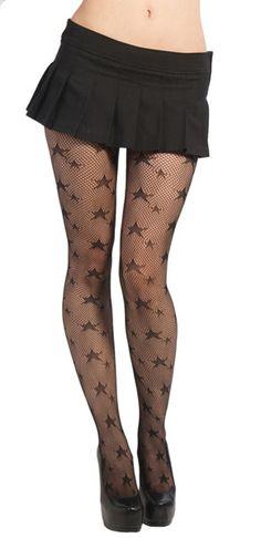 Star Fishnet Pantyhose