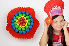 Rainbow Flower cupcakes!