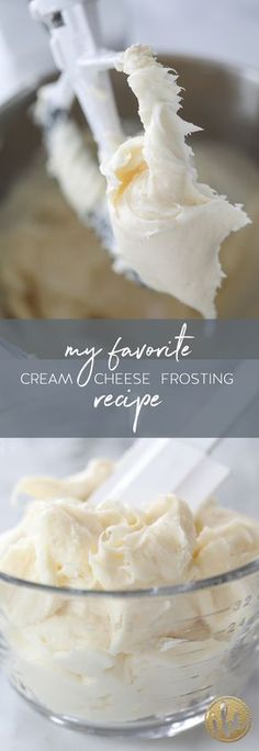 The BEST cream cheese frosting recipe! Go-To Frosting recipe.