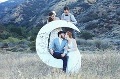 Paper Moons Celestial Backdrops for Vintage Inspired Events by DAPPSY