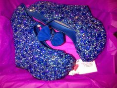 blue pearls and crystals wedges