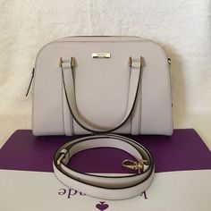 """Kate Spade Newbury Lane Felix Small ✨Brand New With Tag and Bag•Guarantee Authentic✨also available in color BLACK - pls check out my closet if interested :)  ONLY $165 on Viinted•  Size: small Leather with 14-karat gold hard ware 8.5x11.5x5 Double handle with 4"""" drop, comes with adjustable strap that can be worn on shoulder or cross-body Zip top closure with double pulls, flat bottom with protective feet Interior zip, cell phone and multifunction pockets  •Available in color BLACK as well•…"""