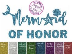 A personal favorite from my Etsy shop https://www.etsy.com/listing/529743341/diy-mermaid-of-honor-iron-on-applique