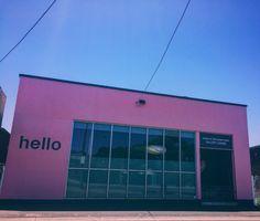 Gallery #hello #gallery #roadtrip #travel #pink