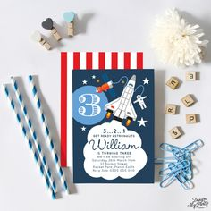 Astronaut Rocket Invitations