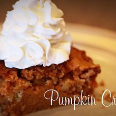 Pumpkin crunch. Looks delicious...