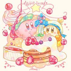 """あめ on Twitter: """"ホイップソードカービィいちごソースがけ… """" Kirby Nintendo, Cute Food Art, Cute Art, Cute Cartoon Wallpapers, Animes Wallpapers, Kirby Games, Kirby Character, Art Mignon, Anime Fnaf"""
