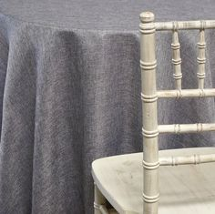 Imitation Burlap (100% Polyester) Tablecloth - Charcoal