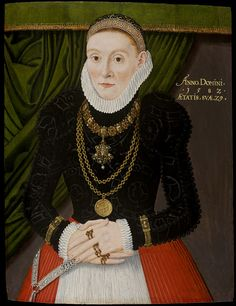 A Lady aged 29 in 1582 (Oil painting)   V Search the Collections