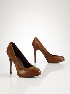 Oxford Leather-Suede Pump - Lauren Shoes   Shoes - RalphLauren.com