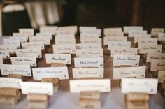 Escort Cards on Corks  (photo: Michelle Gardella Photography)