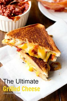 The Ultimate Grilled Cheese with Manwich. Sometimes you just need a night in with the family and comfort food. This is the ultimate grilled cheese loaded with everything you could ever want in a perfect sammy. ohsweetbasil.com