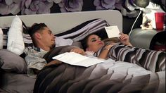 Nervous: Jackson Blyton, 24,  revealed he had a son to his stunned love interest Georgina Cantwell, 24, in Tuesday night's Big Brother
