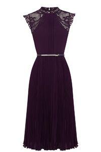 Victoriana Pleated Midi Dress
