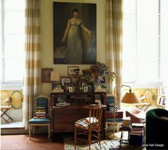 This living room in an apartment in Rome Italy was featured in World Of Interiors