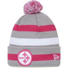 Men's New Era Pittsburgh Steelers Breast Cancer Awareness On Field Knit Hat - NFLShop.com