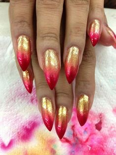 50+ Best Stunning Red Nails Inspirational Designs For Prom And Wedding - Page 41 of 50 - Coco Night Glitter Acrylics, Glitter Nails, Gold Glitter, Great Nails, Fabulous Nails, Perfect Nails, Hot Nails, Hair And Nails, Wedding Short Hair