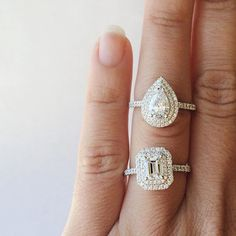 Which would you choose? Emerald or Pear cut?