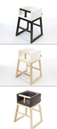 Modern high chairs from Monte Design.  #highchair