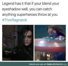 Legend has it that if you blend your eyeshadow well, you can catch anything a superhero throws at you
