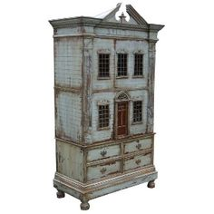 | hand painted dollhouse armoire england replica hand painted copy of ...