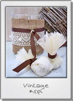 Wedding Favors, Decoupage, Burlap, Shabby, Vintage, Bag, Home Decor, Wedding Keepsakes, Purse