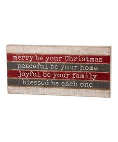 Look at this #zulilyfind! 'Merry Be Your Christmas' Slat Box Sign #zulilyfinds