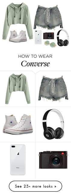 """Untitled #884"" by psoto-1 on Polyvore featuring Unravel, Converse, Leica and Beats by Dr. Dre"