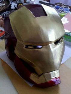 painted helmet #IronMan #costume #DIY