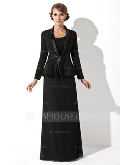 Mother of the Bride Dresses - $119.99 - Sheath/Column Scoop Neck Floor-Length Chiffon Mother of the Bride Dress (008005947) http://jjshouse.com/Sheath-Column-Scoop-Neck-Floor-Length-Chiffon-Mother-Of-The-Bride-Dress-008005947-g5947