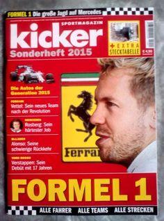 KICKER!FORMEL 1!SPORT-MAGAZIN!SONDERHEFT 2015! NEU !
