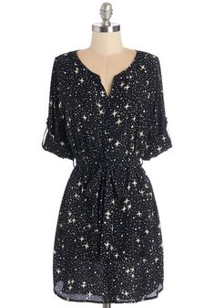 Briolette It Shine Tunic. Shine as bright as a sparkling diamond in this star-printed top! #blue #modcloth