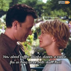 And that is all we need! <3 #YouveGotMail​ #TomHanks​ #MegRyan​ #JWQuotes #HollywoodQuotes