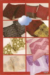 closet for crocheted napkin: مجلة كروشية لتزيين المخدات.crochet for pellow Crochet Magazine, Crochet Lace, Napkins, Two Piece Skirt Set, Crochet Blankets, Closet, Gifts, Armoire, Presents