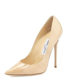 Anouk Patent Leather Pump, Nude by Jimmy Choo at Neiman Marcus.