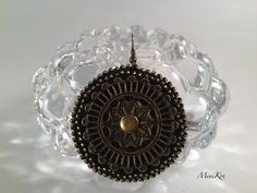 Excited to share the latest addition to my #etsy shop: Crochet black round flat earrings https://etsy.me/2xda3eO #jewelry #earrings #black #earwire #bronze #no #girls #yes #circle