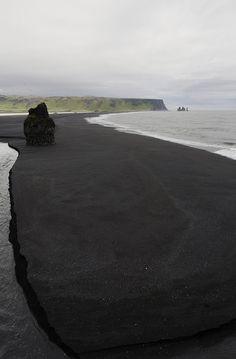 Black beach. Iceland