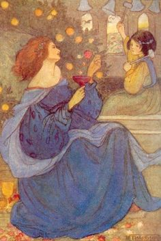 Emma Florence Harrison : A peal of bells, an illustration to Christina Rossetti's poem