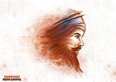singh with warm blood by sharanart on DeviantArt Guru Tegh Bahadur, Guru Granth Sahib Quotes, Guru Gobind Singh, National Film Awards, Creativity Quotes, Pencil Portrait, Indian Art, Professional Photographer, Blood
