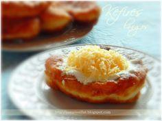 Kefires lángos Kefir, Hungarian Desserts, Naan, Baked Potato, Dishes, Baking, Breakfast, Ethnic Recipes, Food