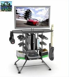 Suporte Para Tv Rack Móveis Console De Videogame Sala de armazenamento Guitarra Xbox One Ps4 Wii