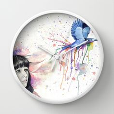 Flight Wall Clock by Laura Donnelly - $30.00