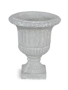 Cement Footed Urn