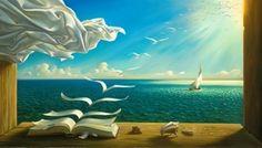 "Vladimir Kush b.1965 Russian surrealist painter ""Diary of discoveries"" #art"