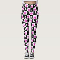 BLACK AND PINK SUPER STAR GYMNASTICS LEGGINGS Your Gymnast will dazzle, sparkle and shine in these stylish and one of a kind Gymnastics leggings. http://www.zazzle.com/collections/gymnastics_leggings-119067330571003319?rf=238246180177746410 #Gymnastics #Gymnast #WomensGymnastics #Gymnastleggings #Gymnasticsleggings #Lovegymnastics