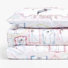 Image 1 of the product REVERSIBLE GYMNASTS PRINT DUVET COVER